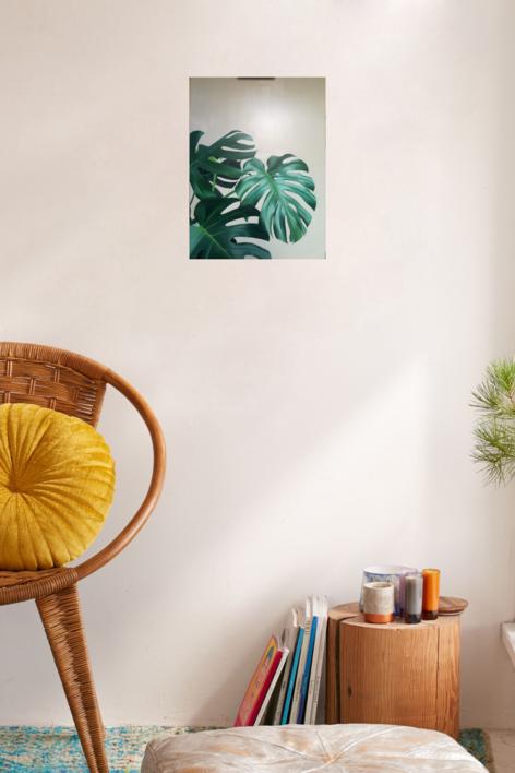 Monstera deliciosa | Pintura de Imma Peña | Compra arte en Flecha.es