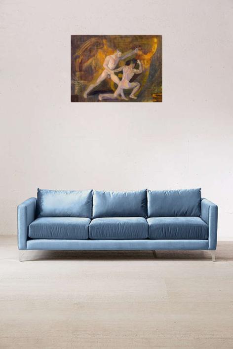 El cuadrado de Malevich provoca pesadillas al joven  artista Richard García | Pintura de Ignacio Mateos | Compra arte en Flecha.es