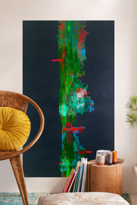 VERDE Y NOCHE | Pintura de ALFREDO MOLERO DOVAL | Compra arte en Flecha.es
