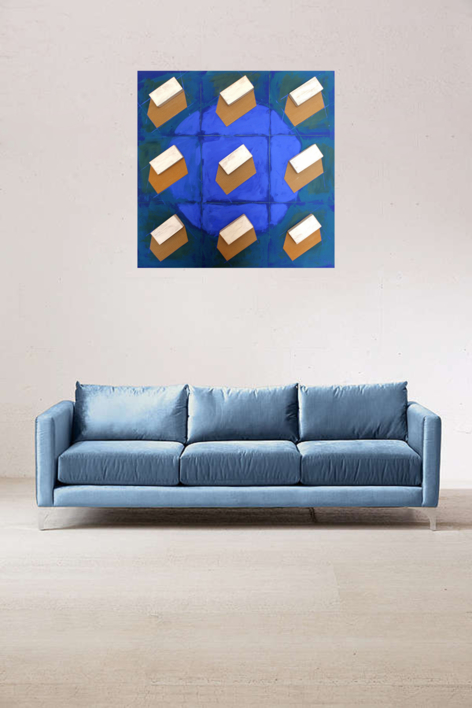 Casas | Collage de Ana Pellón | Compra arte en Flecha.es