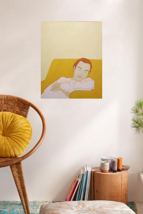 Amarillo Nápoles | Pintura de Cova Mejía | Compra arte en Flecha.es