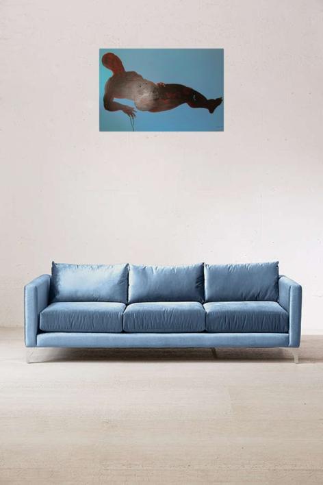 la silueta de Ricardo | Pintura de Nader | Compra arte en Flecha.es