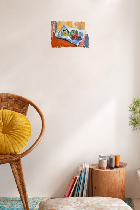 BODEGÓN NARANJA | Pintura de Iraide Garitaonandia | Compra arte en Flecha.es