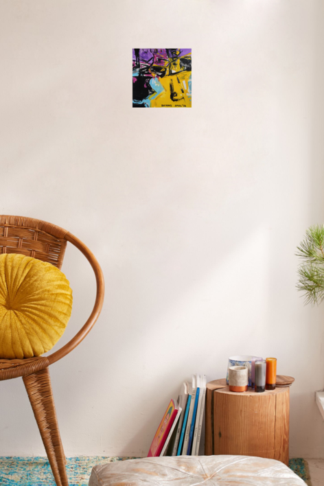 Purple number 4 | Pintura de mhberbel | Compra arte en Flecha.es