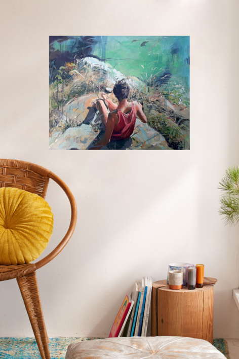 En el Acantilado   Pintura de Amaya Fernández Fariza   Compra arte en Flecha.es
