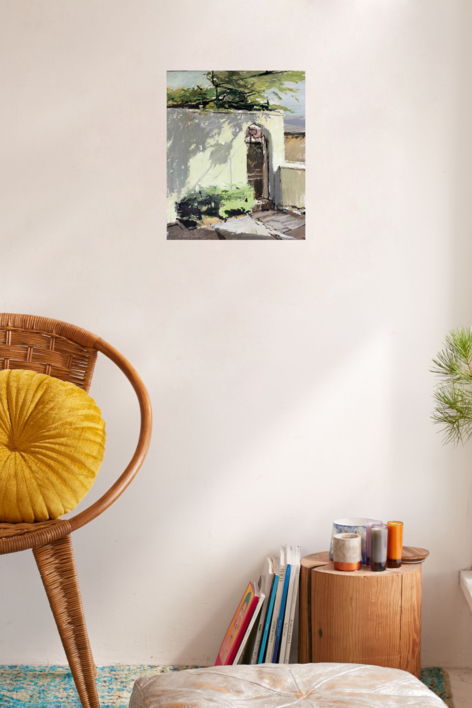 Patio de la Residencia a media tarde | Pintura de Gonzalo Rodríguez | Compra arte en Flecha.es