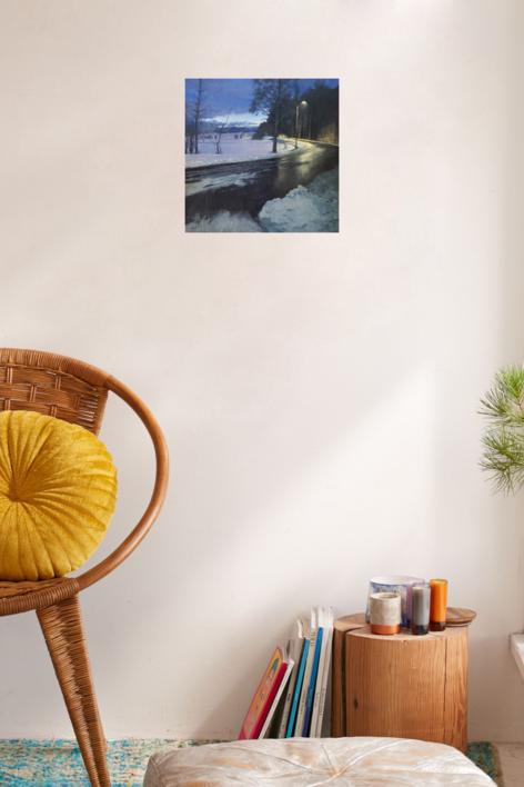 Carretera en invierno | Pintura de Orrite | Compra arte en Flecha.es