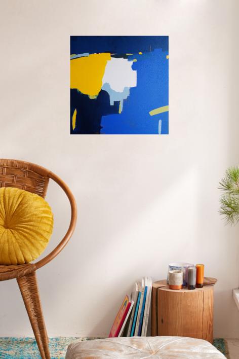 Azul | Pintura de Leticia Gª Marañón | Compra arte en Flecha.es