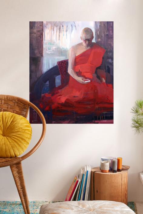 El joven monje | Pintura de Carmen Montero | Compra arte en Flecha.es
