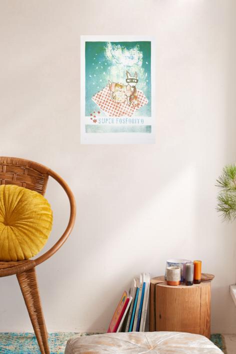 Super Fosforito | Obra gráfica de Marta Aguirre | Compra arte en Flecha.es