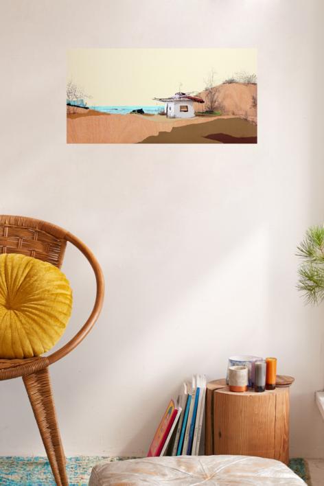 Duna de levante | Collage de Eduardo Query | Compra arte en Flecha.es