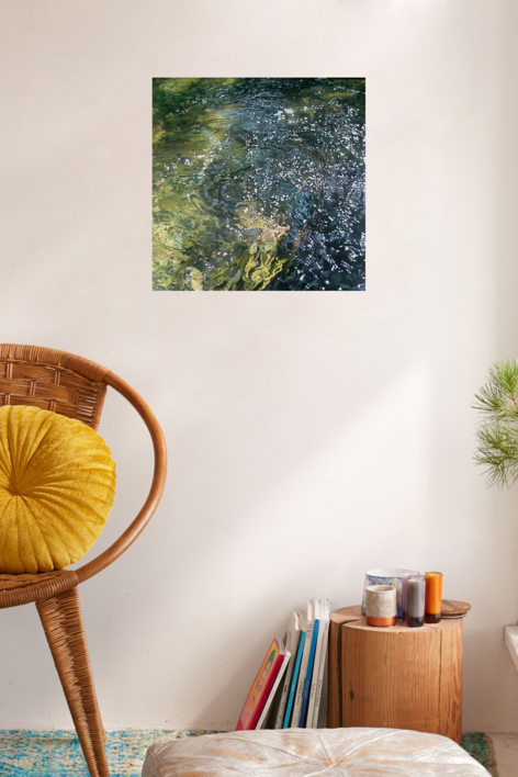 70x70 Fuente del Cura I (serie Aguas) | Pintura de bugallal | Compra arte en Flecha.es