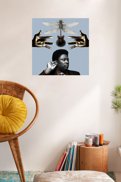 B B King | Collage de Gabriel Aranguren | Compra arte en Flecha.es