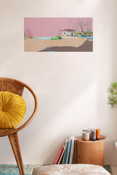 Crepúsculo tropical | Collage de Eduardo Query | Compra arte en Flecha.es