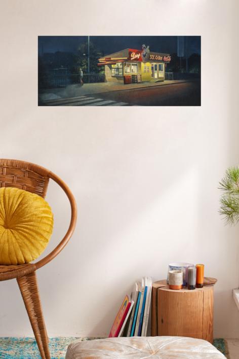 Paseo nocturno | Pintura de Orrite | Compra arte en Flecha.es