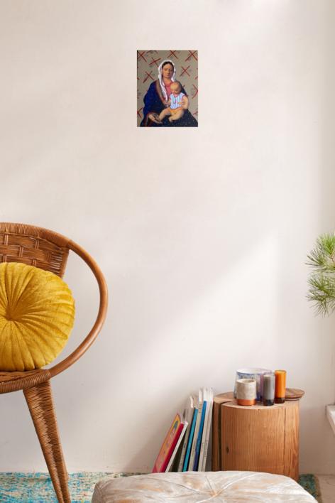Virgen Guapa de la paz | Pintura de Paco Sánchez | Compra arte en Flecha.es