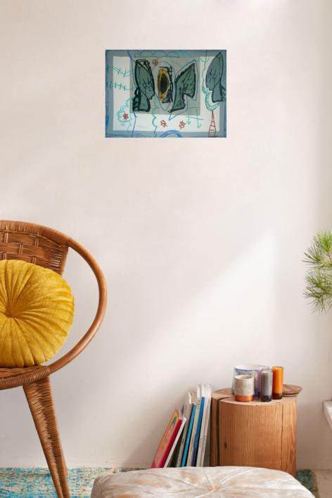 Serie bosque encantado   Collage de Sílvia Colomina   Compra arte en Flecha.es