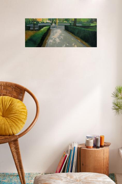 Jardines de Aranjuez | Pintura de Juan Manuel Campos Guisado | Compra arte en Flecha.es