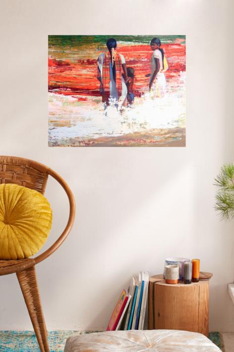 Mar de curry   Pintura de Carmen Montero   Compra arte en Flecha.es