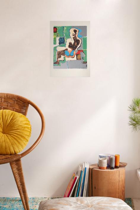 Mujer Sentada (1) | Obra gráfica de Manuel Oyonarte | Compra arte en Flecha.es