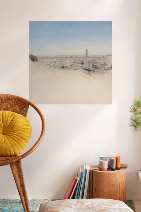 Sevilla desde el Botánico | Pintura de José Luis Romero | Compra arte en Flecha.es