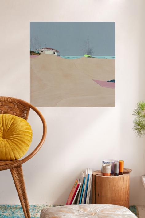 Dunas rosas de sal y yodo | Collage de Eduardo Query | Compra arte en Flecha.es