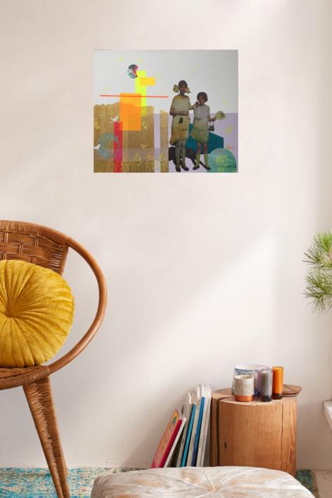 Las primas | Collage de Olga Moreno Maza | Compra arte en Flecha.es