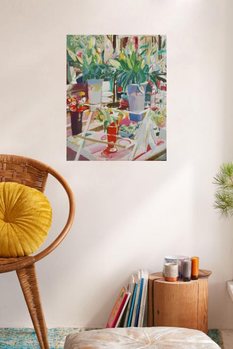 Mañana de otoño en Tirso de Molina | Pintura de Carlota Rios | Compra arte en Flecha.es