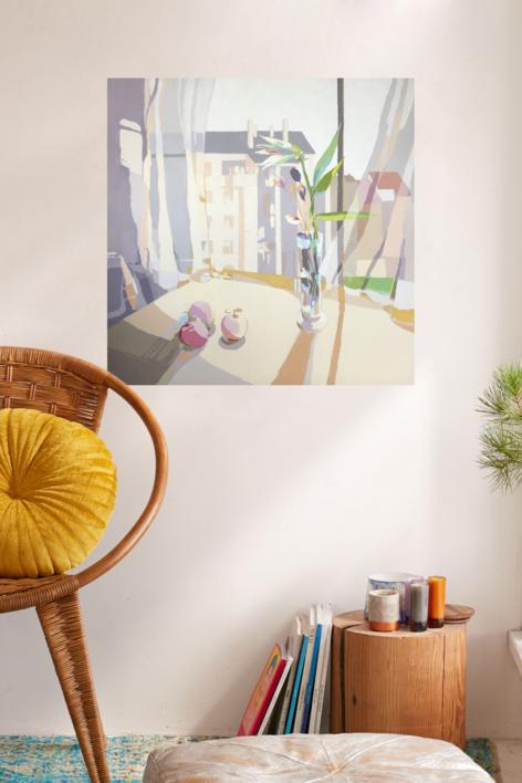 Tres manzanas | Pintura de Javier AOIZ ORDUNA | Compra arte en Flecha.es
