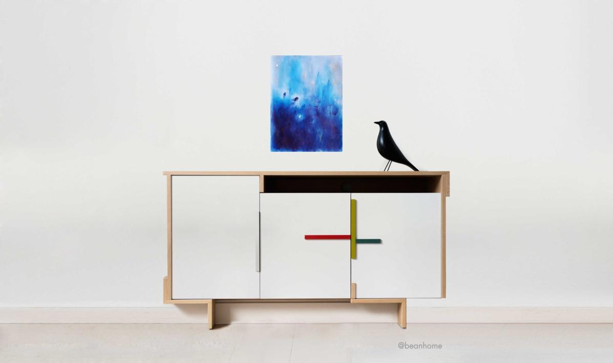 Blue II   Pintura de Luis Medina   Compra arte en Flecha.es