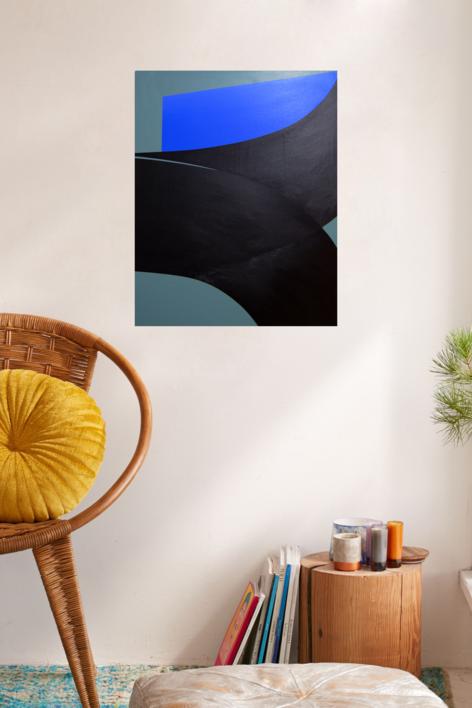 Curve Fold #01 | Pintura de Rodrigo Martín | Compra arte en Flecha.es