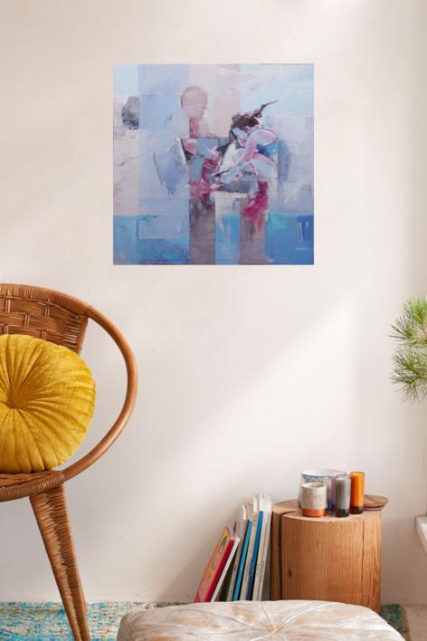 Los saltos   Collage de Pilar López Báez   Compra arte en Flecha.es