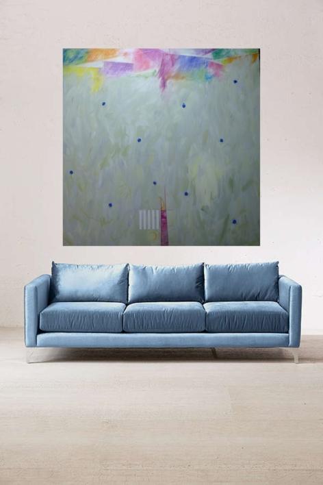 Impactos azules | Pintura de Albarran | Compra arte en Flecha.es