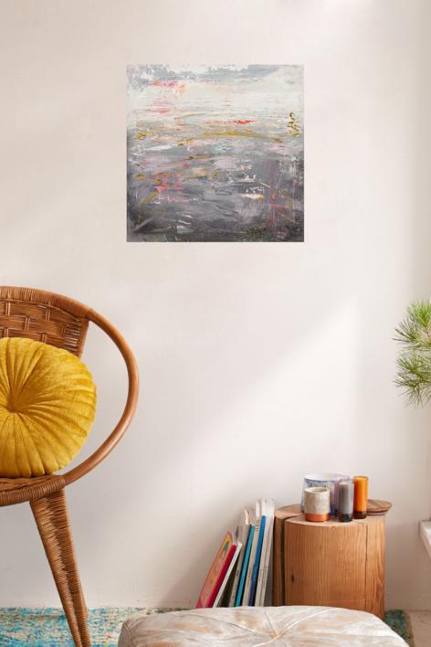 Paisaje abstracto | Pintura de Susana Sancho | Compra arte en Flecha.es