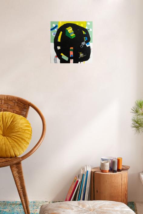 Escaleras para subir al interior | Collage de Ángel Celada | Compra arte en Flecha.es