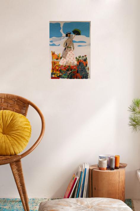 La sombrilla de Monet | Collage de Ruth Álvarez | Compra arte en Flecha.es