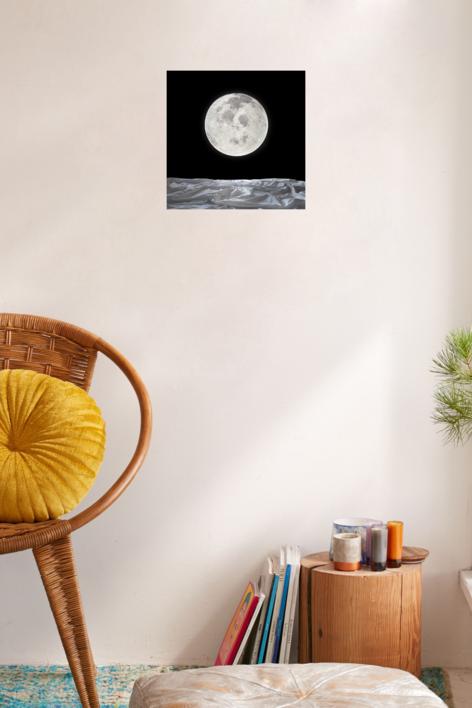 Noche de luna llena | Fotografía de Leticia Felgueroso | Compra arte en Flecha.es