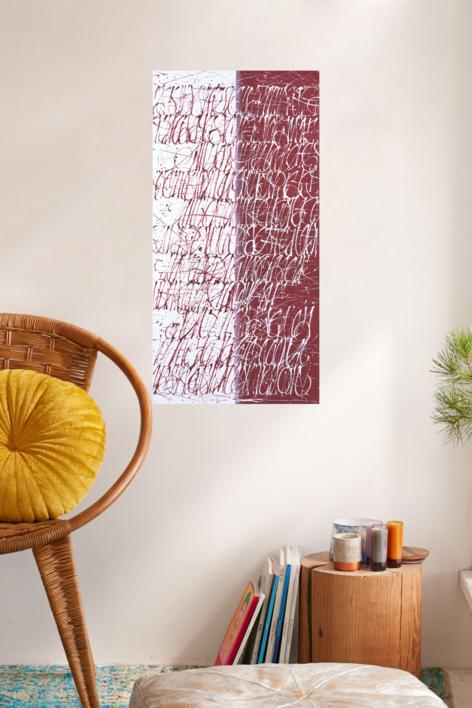 Dualidad en rojo | Pintura de Jorge Regueira | Compra arte en Flecha.es