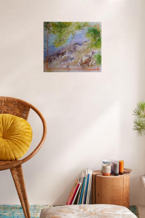PUERTO POLLENSA | Pintura de ÁNGELES CERECEDA | Compra arte en Flecha.es