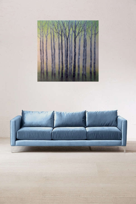 Arboles en primavera | Pintura de Charlotte Adde | Compra arte en Flecha.es