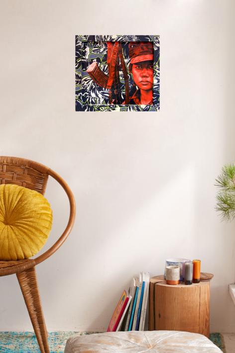 Karen transparente   Pintura de Silvia Viana   Compra arte en Flecha.es
