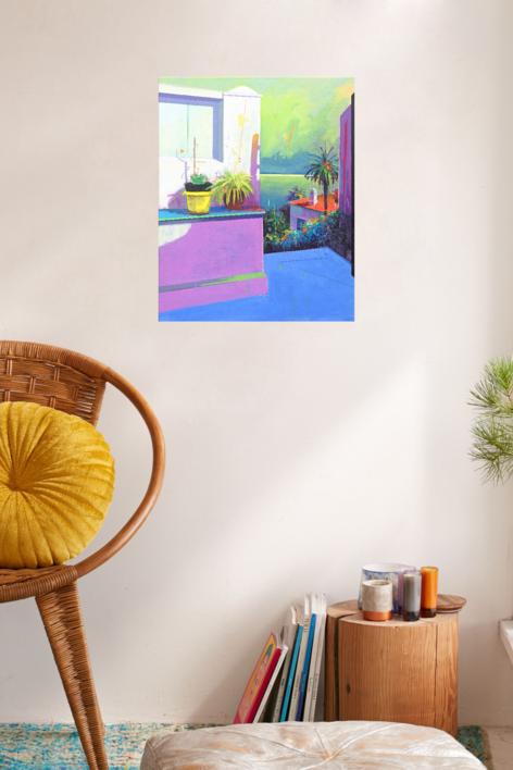 Paraíso 3 | Pintura de Benito Salmerón | Compra arte en Flecha.es