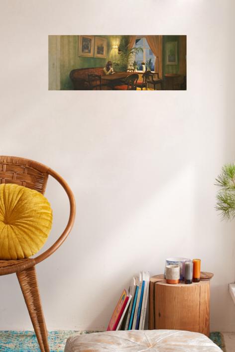La hora del café | Pintura de Orrite | Compra arte en Flecha.es