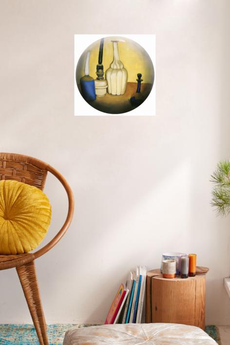 Bodegón amarillo | Ilustración de Enrique González | Compra arte en Flecha.es