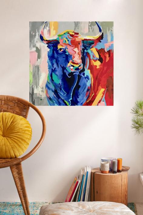 Sospechoso | Pintura de Maite Rodriguez | Compra arte en Flecha.es