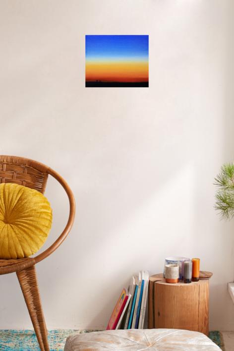 Anochecer   Pintura de Borja Abós   Compra arte en Flecha.es
