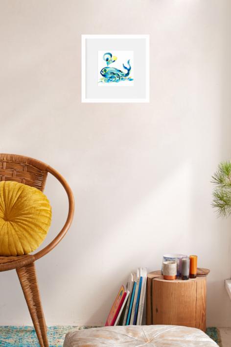 Ballena | Dibujo de richard martin | Compra arte en Flecha.es