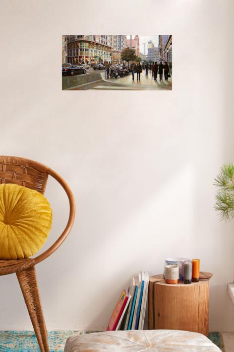 Gran Vía. Madrid | Pintura de BALSERA | Compra arte en Flecha.es