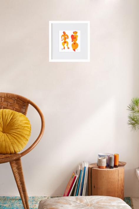 el gos i la dona | Ilustración de RICHARD MARTIN | Compra arte en Flecha.es
