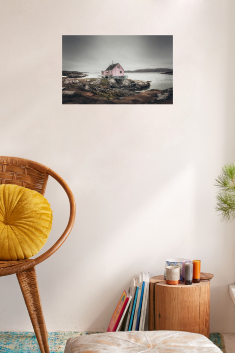 La casa rosa. Itillet | Digital de Roberto Iván Cano | Compra arte en Flecha.es